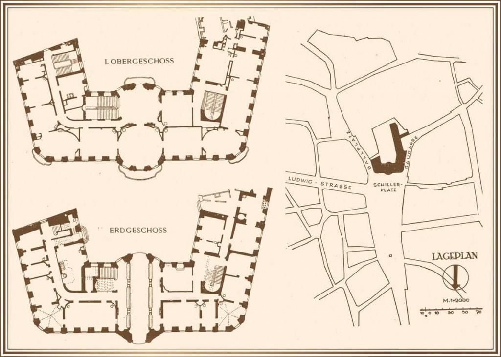 1746/47 - Grundrisse von Thomann sowie Lageplan des Osteiner Hofs