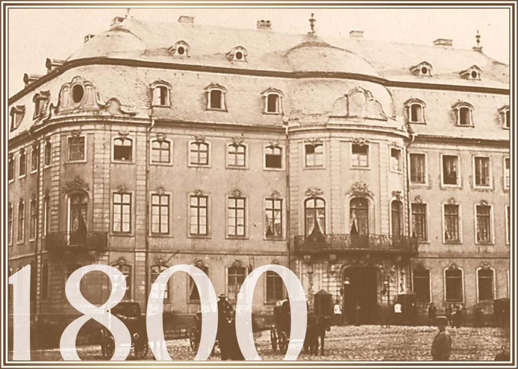 1800 - Der Osteiner Hof mit Droschken