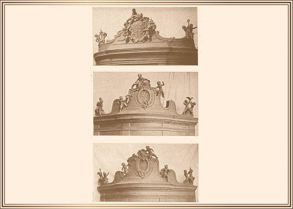 1948 Modellaufnahmen für die geplante Dachkrönung
