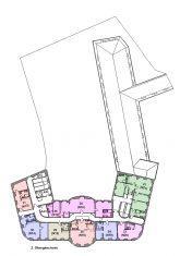 Grundriss Hauptgebäude 2. Obergeschoss