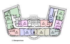 Grundriss Hauptgebäude 3. Obergeschoss