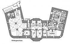 Grundriss Hauptgebäude Kellergeschoss