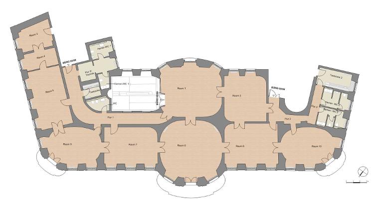 Hauptgebäude 1.OG, Büro 05 und 06 Grundriss