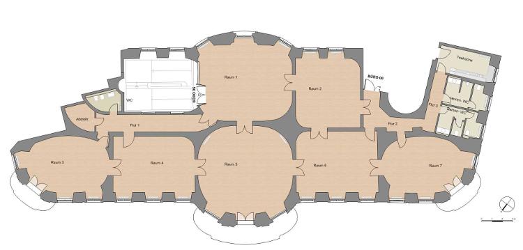 Hauptgebäude 1.OG, Büro 06 Grundriss