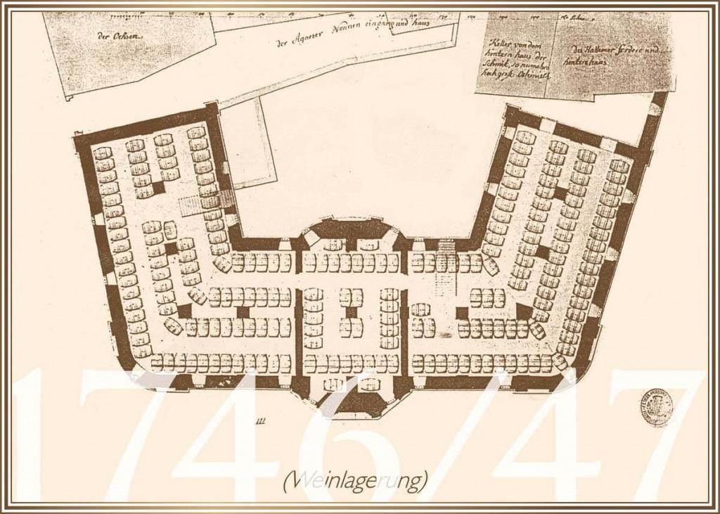 1746/47 - Detailplanung des Weinkellers