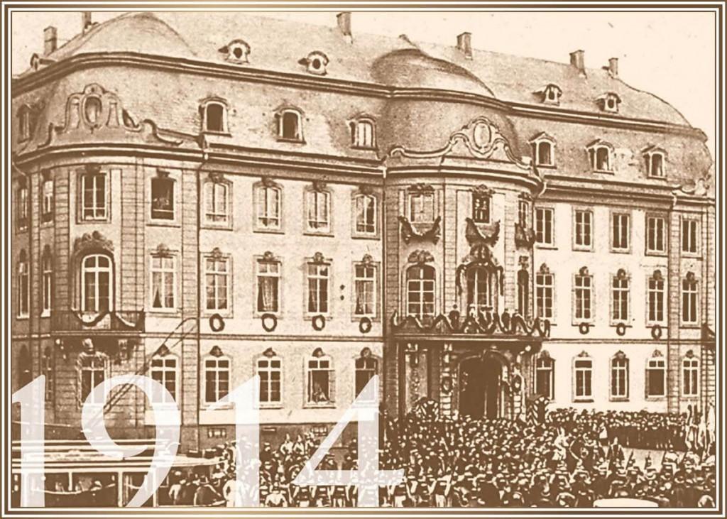 1914 - Verabschiedung der Truppen