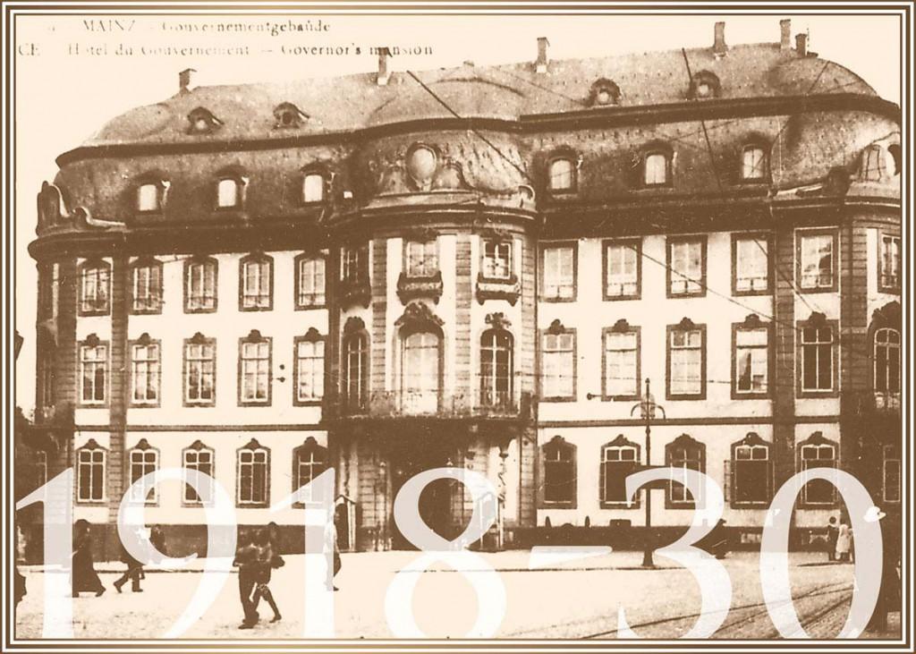 1918-30 Der Osteiner Hof während französischer Besatzung